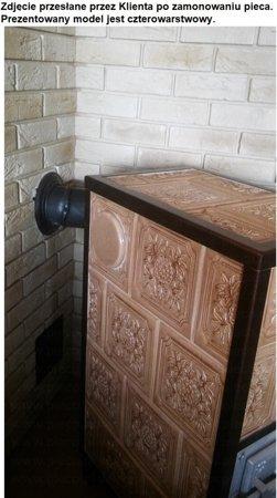 Piec grzewczy kaflowy 7,8kW Retro trzywarstwowy na drewno (wysokość: 76cm, wylot: 125mm) 92238180