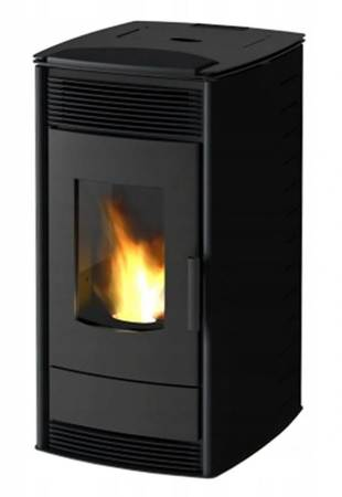 Piec kominek wolnostojący na pellet 12kW z płaszczem wodnym (kolor: czarny) - spełnia anty-smogowy EkoProjekt 19976807