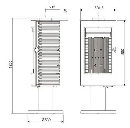 Piec wolnostojący Invicta 12kW Pharos (kolor: emalia antracyt) - spełnia anty-smogowy EkoProjekt 86876400