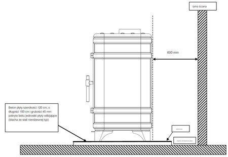 Piec wolnostojący Invicta 12kW Siam z dolotem powietrza (kolor: antracyt) - spełnia anty-smogowy EkoProjekt 86876392