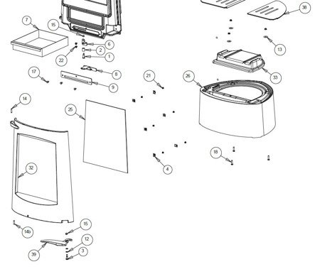 Piec wolnostojący Invicta 8kW Aratos (górna średnica wylotu spalin: 150mm, kolor: antracyt) - spełnia anty-smogowy EkoProjekt 86854958