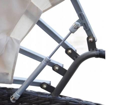 SEDEN Łóżko ogrodowe loże z baldachimem leżanka na taras (wymiary: 230 x 145 x 141 cm) 22778046
