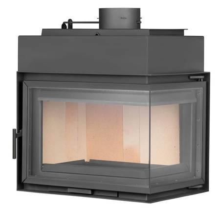 TOPGAR Wkład stalowy narożnik 12,6kW (prawa boczna szyba) - spełnia anty-smogowy EkoProjekt 19877525
