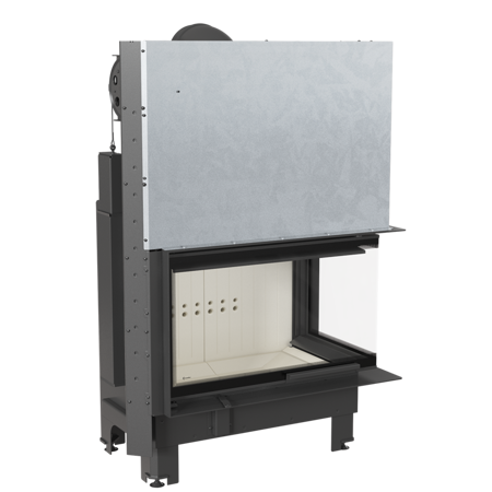Wkład kominkowy 15kW MBO 15 BS Gilotyna (prawa boczna szyba bez szprosa, drzwi podnoszone) - spełnia anty-smogowy EkoProjekt 30053242